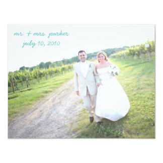 Cartões de agradecimentos do casamento convite 10.79 x 13.97cm