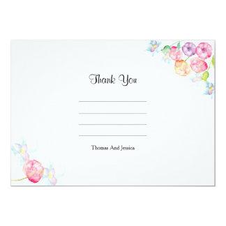 Cartões de agradecimentos do casamento convite 12.7 x 17.78cm