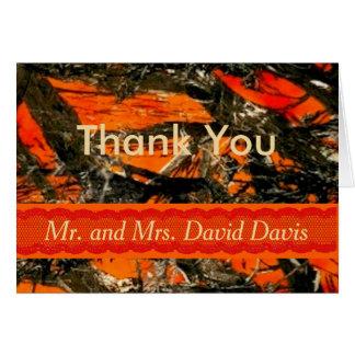 Cartões de agradecimentos do casamento da