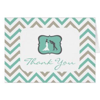 Cartões de agradecimentos do casamento de Chevron