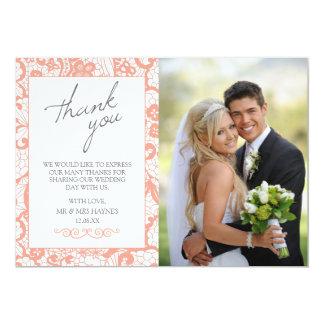 Cartões de agradecimentos do casamento, design convite 12.7 x 17.78cm