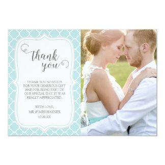 Cartões de agradecimentos do casamento, design de convite 12.7 x 17.78cm