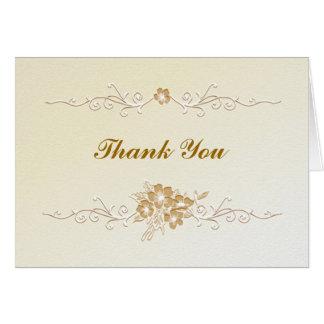 Cartões de agradecimentos do casamento do