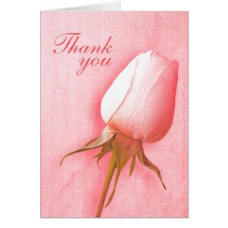 Cartões de agradecimentos do casamento do botão do