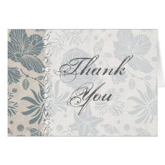 Cartões de agradecimentos do casamento do estêncil