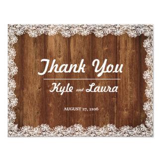Cartões de agradecimentos do casamento do laço