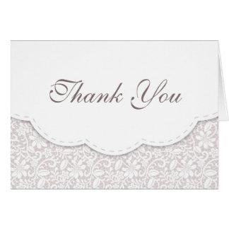 Cartões de agradecimentos do casamento do laço de