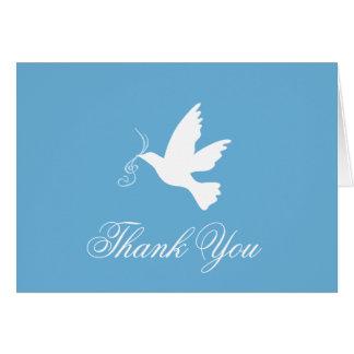 Cartões de agradecimentos do casamento do pássaro