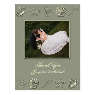 Cartões de agradecimentos do casamento, modelo da