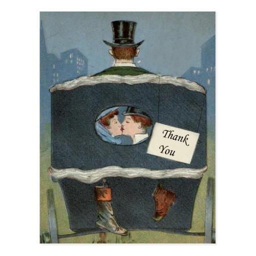 cartões de agradecimentos do casamento, obrigado cartao postal
