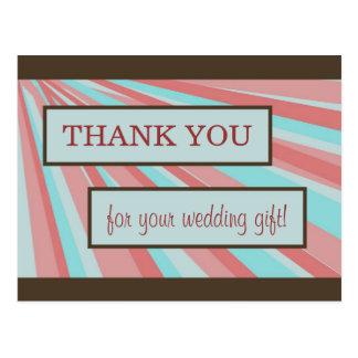 Cartões de agradecimentos do casamento - simples cartão postal