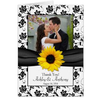 Cartões de agradecimentos do casamento tema