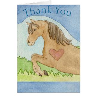 Cartões de agradecimentos do cavalo