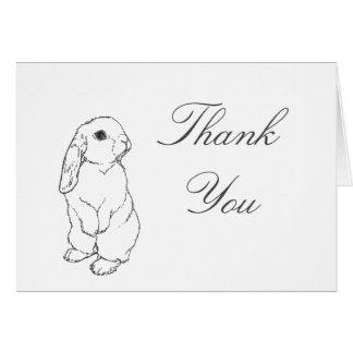 Cartões de agradecimentos do coelho