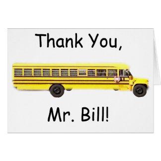 Cartões de agradecimentos do condutor de autocarro