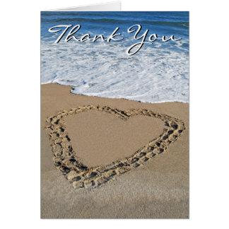 Cartões de agradecimentos do coração do oceano (va