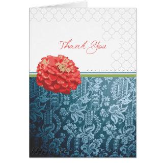 {Cartões de agradecimentos do cravo do vintage} Cartão De Nota