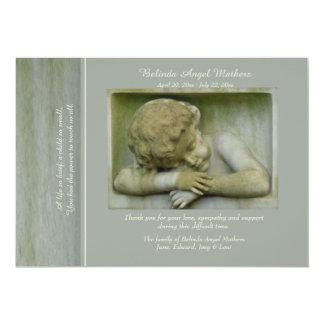 Cartões de agradecimentos do falecimento do anjo convite 12.7 x 17.78cm