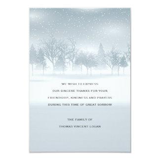 Cartões de agradecimentos do falecimento do convite 8.89 x 12.7cm