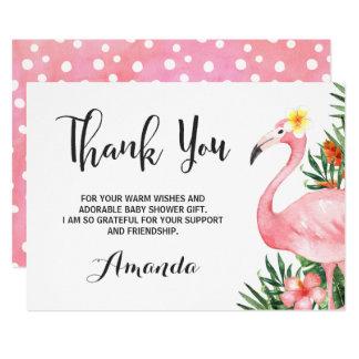 Cartões de agradecimentos do flamingo de Flamingle