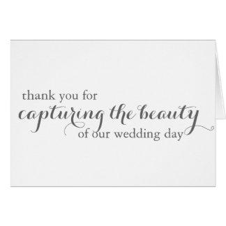 Cartões de agradecimentos do fotógrafo do