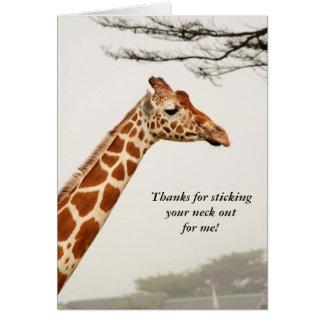 Cartões de agradecimentos do girafa