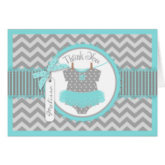 Cartões de agradecimentos do impressão de Chevron Cartão De Nota