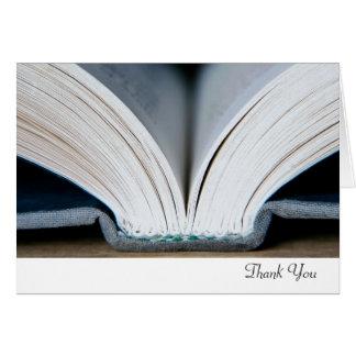 Cartões de agradecimentos do livro