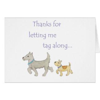 Cartões de agradecimentos do mentor