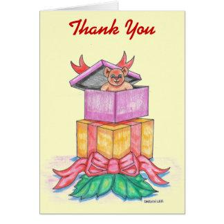 Cartões de agradecimentos do Natal de Customizeabl