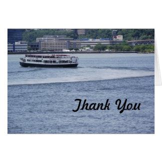 Cartões de agradecimentos do navio de cruzeiros