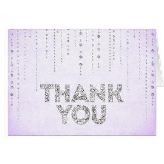 Cartões de agradecimentos do olhar do brilho da la