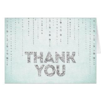 Cartões de agradecimentos do olhar do brilho do Aq