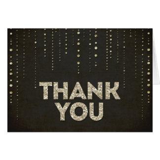 Cartões de agradecimentos do olhar do brilho do ou