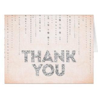 Cartões de agradecimentos do olhar do brilho do pê