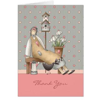 Cartões de agradecimentos do primitivo do país
