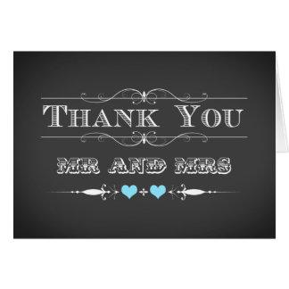 Cartões de agradecimentos do quadro da tipografia