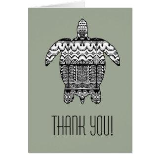 Cartões de agradecimentos do teste padrão da