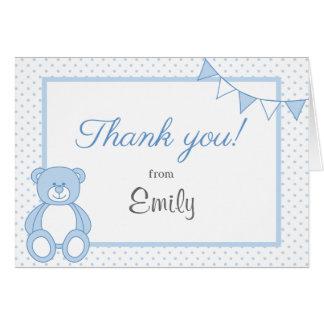 Cartões de agradecimentos do urso de ursinho