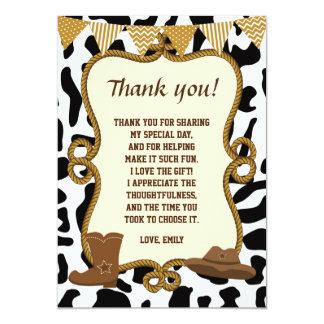 Cartões de agradecimentos do vaqueiro ocidentais