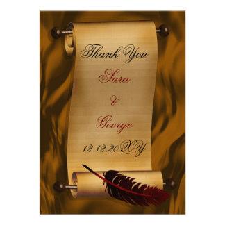 cartões de agradecimentos do vintage convites personalizado