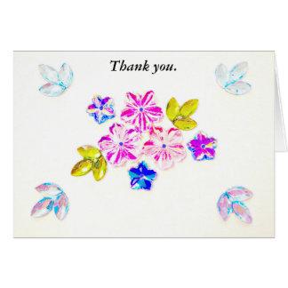 Cartões de agradecimentos do Wildflower