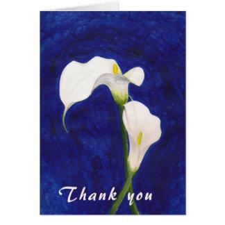 cartões de agradecimentos dos lírios de calla