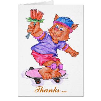 Cartões de agradecimentos dos miúdos - pensionista