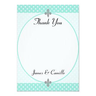 Cartões de agradecimentos elegantes das bolinhas convite 12.7 x 17.78cm