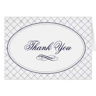 Cartões de agradecimentos elegantes do teste