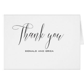 Cartões de agradecimentos elegantes pretos &
