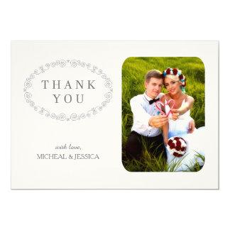 Cartões de agradecimentos elegantes SIMPLES da Convite 12.7 X 17.78cm