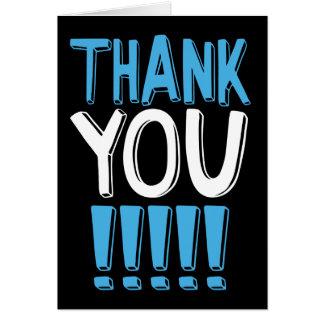 Cartões de agradecimentos em letras grandes