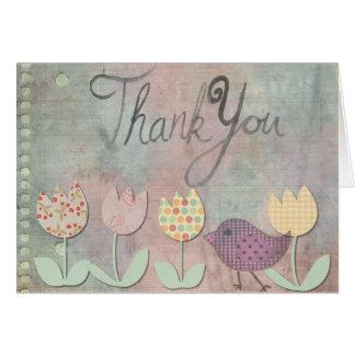 Cartões de agradecimentos, envelopes brancos